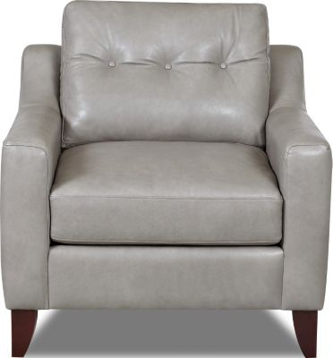 Klaussner Audriana Gray 100% Leather Chair