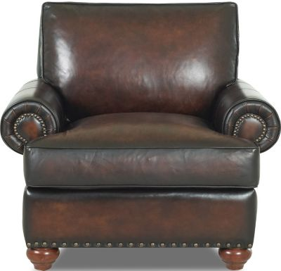 Klaussner Ellington 100% Leather Chair