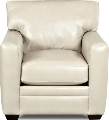 Klaussner Fedora Cream Leather Chair