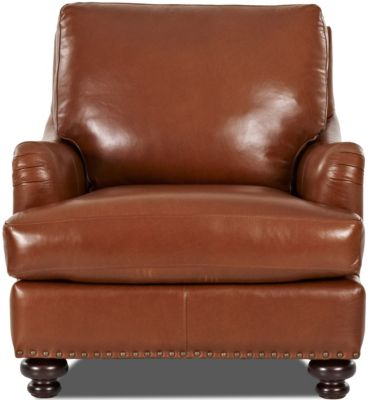 Klaussner Loxley 100% Leather Chair