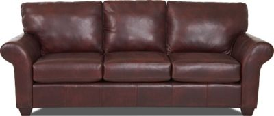 Klaussner Moorland 100% Leather Sofa