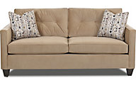 Klaussner Brower Tan Queen Sleeper Sofa