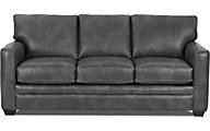 Klaussner Fedora Gray Leather Queen Sleeper Sofa