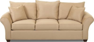 Klaussner Fletcher Cream Queen Sleeper Sofa