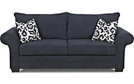Klaussner Holly Navy Queen Sleeper Sofa
