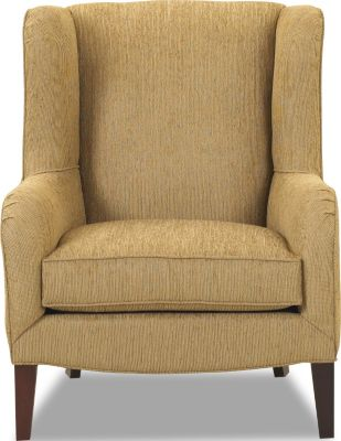 Klaussner Polo Tan Wing Chair