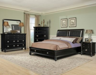 Klaussner Danbury 4-Piece Queen Storage Bedroom Set