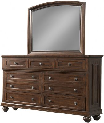 Klaussner Whittington Pine Dresser with Mirror
