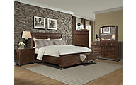 Klaussner Whittington Pine 4-Piece Queen Storage Bedroom Set