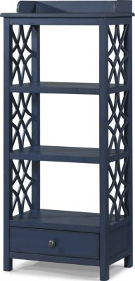 Klaussner Honeysuckle Navy Etagere