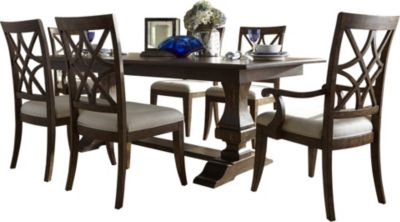 Klaussner Trisha Yearwood Table, 4 Side & 2 Arm Chairs