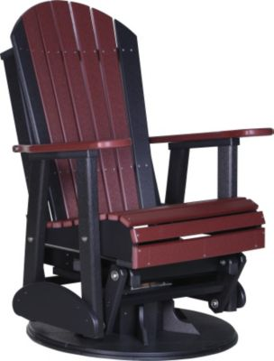 Amish Outdoors Adirondack Outdoor Swivel Glider Chair