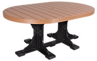 Amish Outdoors Oval Outdoor Dining Table