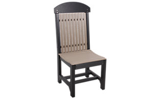 Amish Outdoors Dining Chair Weatherwood/Black