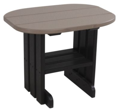 Amish Outdoors Oval Outdoor Side Table