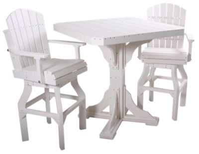 Amish Outdoors Square Bar Table & 2 Stools