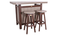 Amish Outdoors 3-Piece Outdoor Bar Set