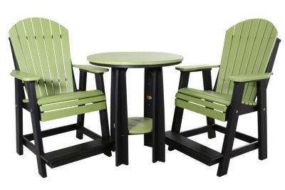 Amish Outdoors 2 Balcony Adirondack Chairs & Table