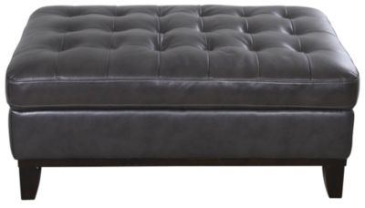 Kuka 1838 Collection Leather Ottoman
