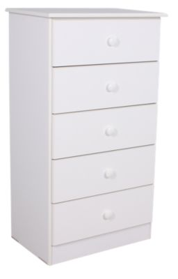 Lang Special Collection White 5-Drawer Chest