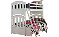 Legacy Classic Academy White Twin/Full Bunk Bed