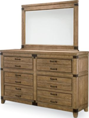 Legacy Classic Metalworks Dresser with Mirror