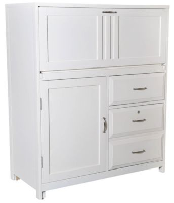 Liberty Hampton Bay White Computer Cabinet