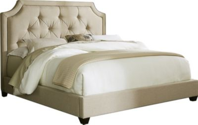 Liberty Upholstered Queen Sloped Bed