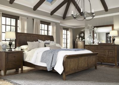 Liberty Hearthstone 4-Piece King Sleigh Bedroom Set
