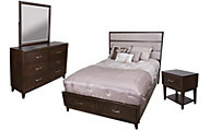 Liberty Hudson Square 4-Piece Queen Storage Bedroom Set