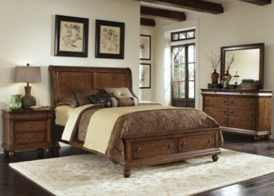 Liberty Rustic Traditions 4-Pc. Queen Storage Bedroom Set