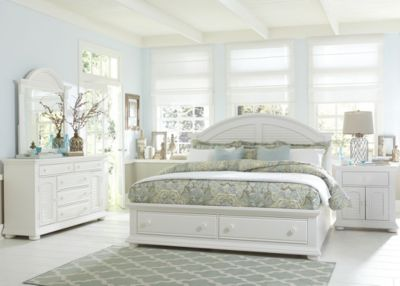 Liberty Summer House I 4-Piece Queen Storage Bedroom Set