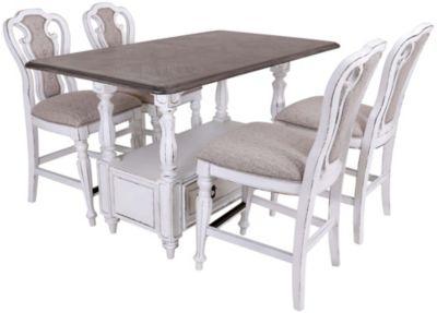 Liberty Magnolia Manor 5-Piece Counter Dining Set