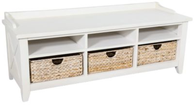 Liberty Hearthstone Occasional White Cubby Storage Bench