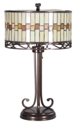 Lite Source Dark Bronze Tiffany Lamp