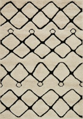 Loloi Enchant Ivory/Black 5' x 8'