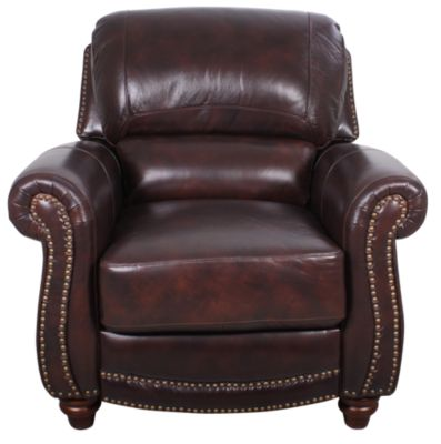 Leather Italia James 100% Leather Press-back Chair