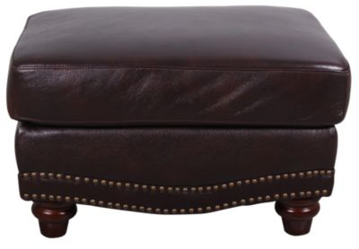 Leather Italia James 100% Leather Ottoman
