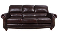 Leather Italia James 100% Leather Sofa