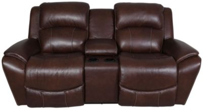 La-Z-Boy Barrett Leather Power Reclining Loveseat with Cons