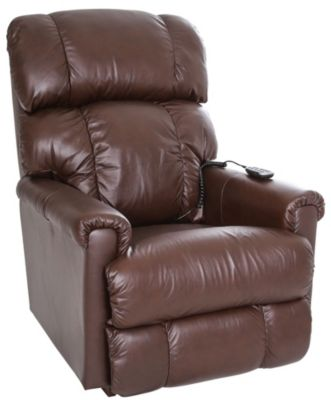 La-Z-Boy Pinnacle Leather Recliner Power Headrest & Lumbar
