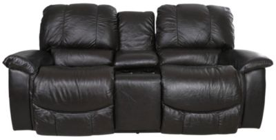 La-Z-Boy Jace Leather Power Recline Loveseat with Console