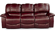 La-Z-Boy Jace Burgundy 100% Leather Reclining Sofa