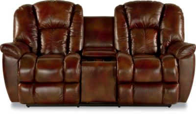 La-Z-Boy Maverick Leather Power Recline Loveseat w/Console