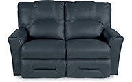 La-Z-Boy Easton Navy Leather Full Reclining Loveseat