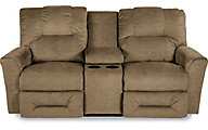 La-Z-Boy Easton Tan Power Reclining Loveseat with Console
