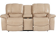 La-Z-Boy Jace 100% Leather Reclining Loveseat with Console