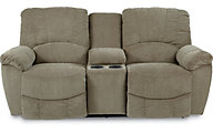 La-Z-Boy Hayes Green Power Reclining Loveseat with Console