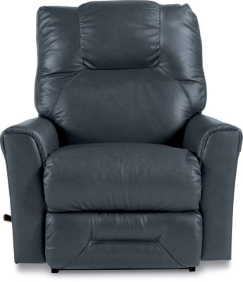 La-Z-Boy Easton Blue Bonded Leather Rocker Recliner