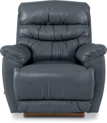 La-Z-Boy Joshua Gray Leather Rocker Recliner